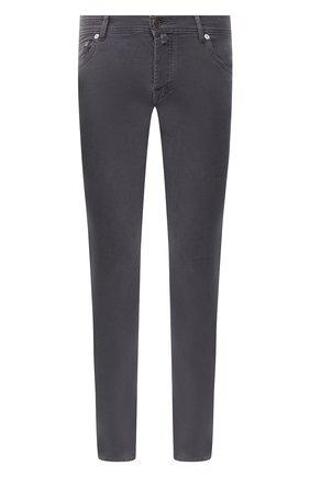 Мужские брюки из хлопка и кашемира KITON серого цвета, арт. UPNJSJ02T47   Фото 1