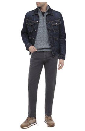 Мужские брюки из хлопка и кашемира KITON серого цвета, арт. UPNJSJ02T47   Фото 2