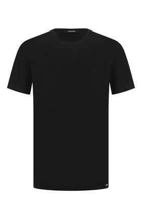 Мужские хлопковая футболка TOM FORD черного цвета, арт. T4M081040   Фото 1