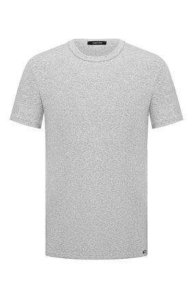 Мужские хлопковая футболка TOM FORD серого цвета, арт. T4M081040   Фото 1