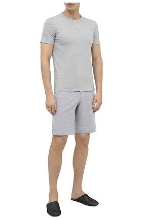 Мужские хлопковая футболка TOM FORD серого цвета, арт. T4M081040   Фото 2