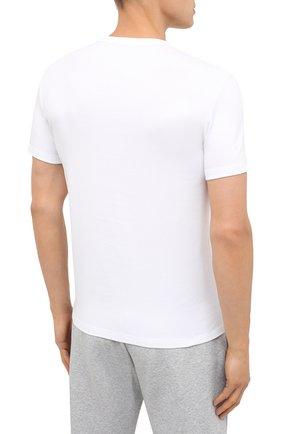 Мужская хлопковая футболка TOM FORD белого цвета, арт. T4M081040 | Фото 4