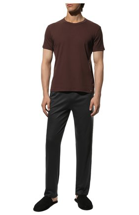 Мужские хлопковая футболка TOM FORD темно-коричневого цвета, арт. T4M081040 | Фото 2