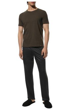 Мужские хлопковая футболка TOM FORD хаки цвета, арт. T4M081040   Фото 2