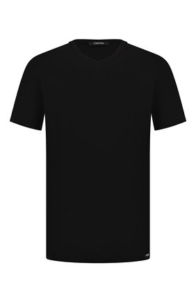 Мужские хлопковая футболка TOM FORD черного цвета, арт. T4M091040   Фото 1
