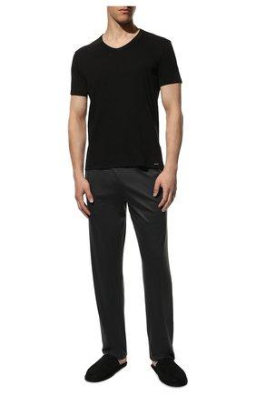 Мужские хлопковая футболка TOM FORD черного цвета, арт. T4M091040   Фото 2