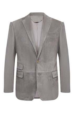 Мужской замшевый пиджак RALPH LAUREN светло-серого цвета, арт. 798804752 | Фото 1