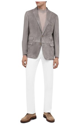 Мужской замшевый пиджак RALPH LAUREN светло-серого цвета, арт. 798804752 | Фото 2