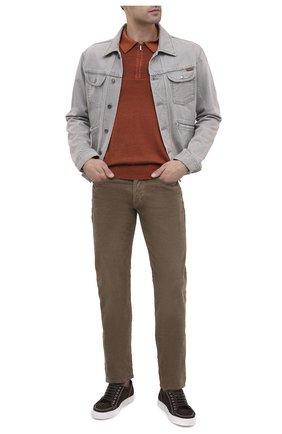 Мужское поло из кашемира и шелка ZILLI коричневого цвета, арт. MBU-PZ002-NUAG1/ML01 | Фото 2