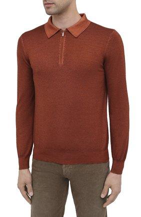 Мужское поло из кашемира и шелка ZILLI коричневого цвета, арт. MBU-PZ002-NUAG1/ML01 | Фото 3