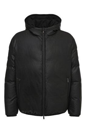 Мужская кожаная куртка GIORGIO ARMANI черного цвета, арт. 9SR50P/9SP50 | Фото 1