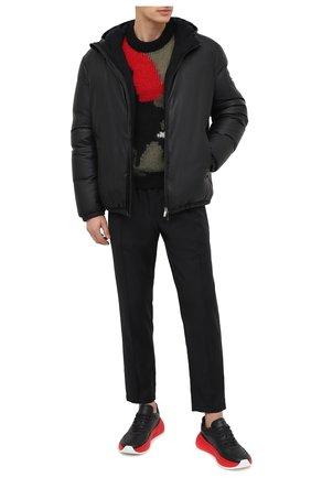 Мужская кожаная куртка GIORGIO ARMANI черного цвета, арт. 9SR50P/9SP50 | Фото 2