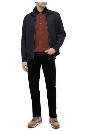 Мужская рубашка из хлопка и кашемира ZILLI коричневого цвета, арт. MFU-01801-64036/0001 | Фото 2