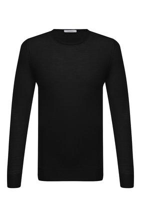 Мужской шерстяной джемпер CRUCIANI черного цвета, арт. CU26.200 | Фото 1