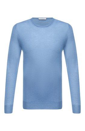 Мужской шерстяной джемпер CRUCIANI голубого цвета, арт. CU26.200   Фото 1