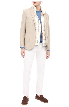 Мужской шерстяной джемпер CRUCIANI голубого цвета, арт. CU26.200   Фото 2