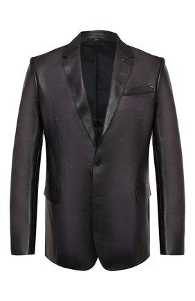 Мужской кожаный пиджак BERLUTI темно-серого цвета, арт. R18LJL29-001 | Фото 1
