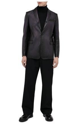 Мужской кожаный пиджак BERLUTI темно-серого цвета, арт. R18LJL29-001 | Фото 2