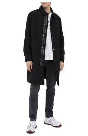 Мужской пальто BERLUTI черного цвета, арт. R180CL66-001   Фото 2