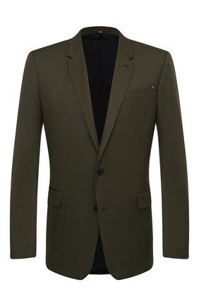 Мужской шерстяной пиджак BERLUTI хаки цвета, арт. R18GCL58-005 | Фото 1