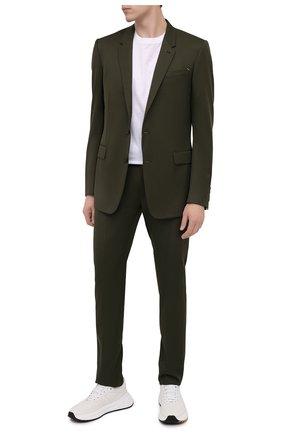 Мужской шерстяной пиджак BERLUTI хаки цвета, арт. R18GCL58-005 | Фото 2