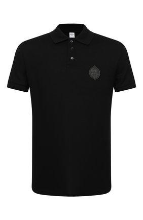 Мужское хлопковое поло BERLUTI черного цвета, арт. R18JPS41-001 | Фото 1