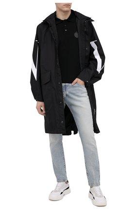 Мужское хлопковое поло BERLUTI черного цвета, арт. R18JPS41-001 | Фото 2
