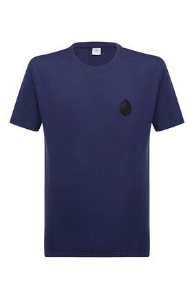 Мужская хлопковая футболка BERLUTI синего цвета, арт. R18JRS48-003 | Фото 1