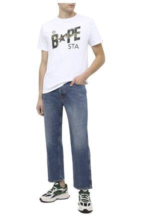 Мужские комбинированные кроссовки evzn REEBOK белого цвета, арт. FV7928 | Фото 2