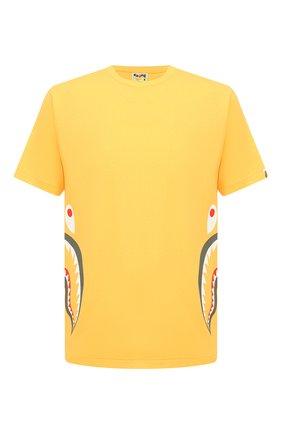 Мужская хлопковая футболка BAPE желтого цвета, арт. 1G30110005   Фото 1