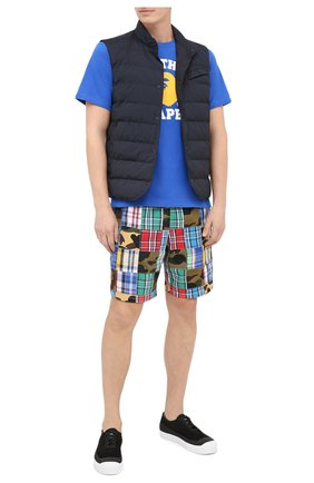 Мужская хлопковая футболка BAPE синего цвета, арт. 1G30110056 | Фото 2