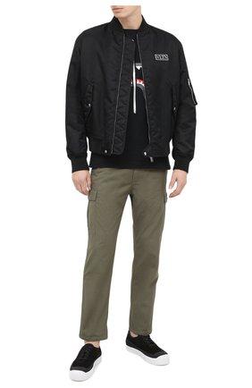 Мужская хлопковая футболка BAPE черного цвета, арт. 1G80110001   Фото 2