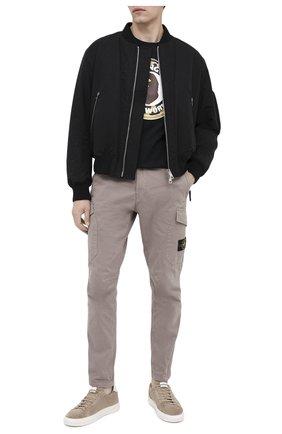 Мужская хлопковая футболка BAPE черного цвета, арт. 1G80110005   Фото 2