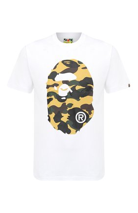 Мужская хлопковая футболка BAPE белого цвета, арт. 1G80110006   Фото 1