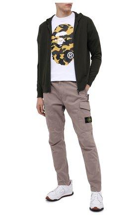 Мужская хлопковая футболка BAPE белого цвета, арт. 1G80110006   Фото 2