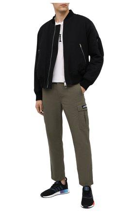 Мужские текстильные кроссовки nmd_r1 ADIDAS ORIGINALS черного цвета, арт. FW4365 | Фото 2