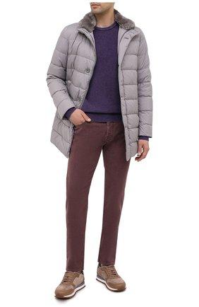 Мужской шерстяной джемпер JACOB COHEN фиолетового цвета, арт. J1062 01683-L/54 | Фото 2