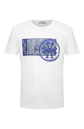 Мужская хлопковая футболка JACOB COHEN белого цвета, арт. J4063 02228-L/54 | Фото 1