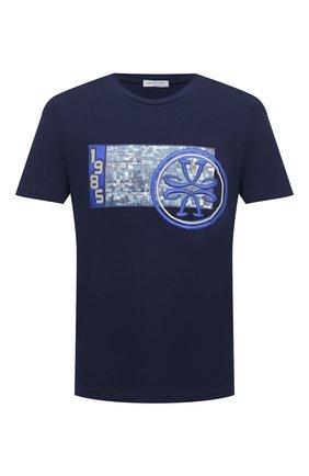 Мужская хлопковая футболка JACOB COHEN темно-синего цвета, арт. J4063 02228-L/54 | Фото 1