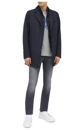 Мужская хлопковая футболка JACOB COHEN темно-серого цвета, арт. J4063 02228-L/54 | Фото 2