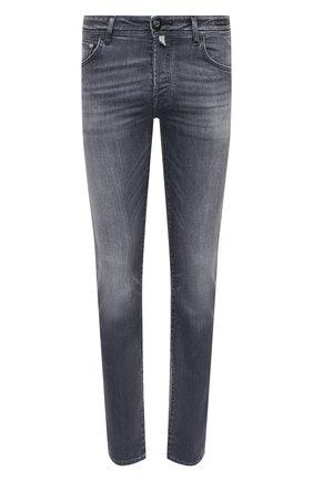 Мужские джинсы JACOB COHEN серого цвета, арт. J620 C0MF 01578-W2/54 | Фото 1