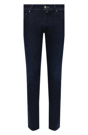 Мужские джинсы JACOB COHEN темно-синего цвета, арт. J688 C0MF 01826-W1/54 | Фото 1