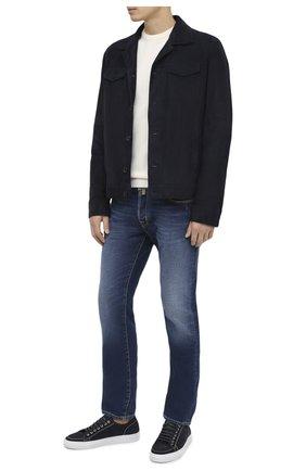 Мужские джинсы JACOB COHEN синего цвета, арт. J688 C0MF 02054-W2/54 | Фото 2
