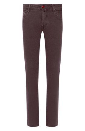 Мужские джинсы JACOB COHEN бордового цвета, арт. J688 C0MF 02103-Z/54 | Фото 1