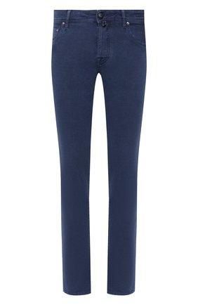 Мужские джинсы JACOB COHEN темно-синего цвета, арт. J688 C0MF 02103-Z/54 | Фото 1