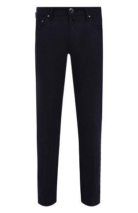 Мужской шерстяные брюки JACOB COHEN темно-синего цвета, арт. J688 W00L B 06968-N/54 | Фото 1