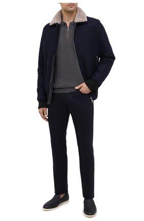 Мужской шерстяные брюки JACOB COHEN темно-синего цвета, арт. J688 W00L B 06968-N/54 | Фото 2