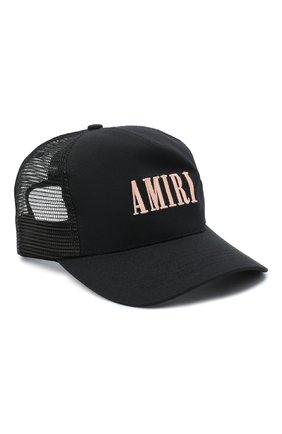 Мужской хлопковая бейсболка AMIRI черного цвета, арт. F0A39137C0 | Фото 1