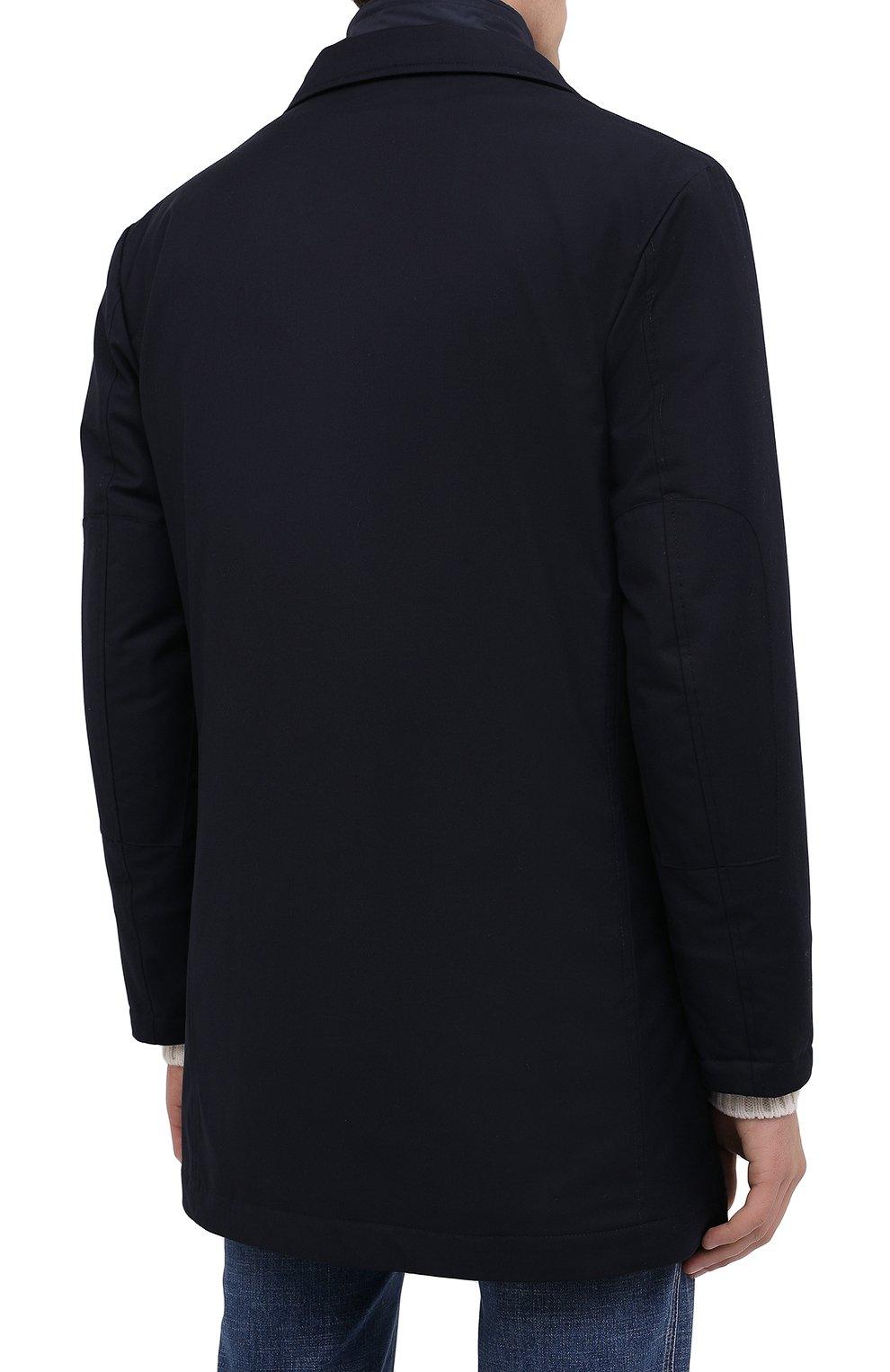 Мужской утепленный плащ KIRED темно-синего цвета, арт. WP0RDW7200002004 | Фото 5