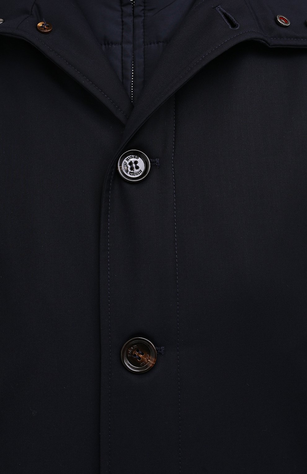 Мужской утепленный плащ KIRED темно-синего цвета, арт. WP0RDW7200002004 | Фото 6
